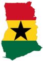 Ghana Flag Map - Mapsof.Net Map