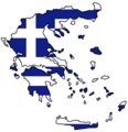 Greece Flag Map - Mapsof.Net Map