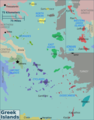 Greek Islands Regions Map - Mapsof.Net Map