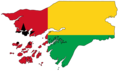 Guinea Bissau Flag Map - Mapsof.Net Map