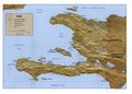 Haiti Shading Relief Map1992 - Mapsof.net