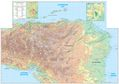 Honduras Physical And Topographic Map - Mapsof.Net Map