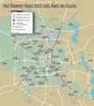 Houston Downtown Transport Map - Mapsof.net