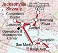 Jacksonville Monorail Map (skyway) - Mapsof.Net Map