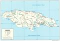 Jamaica Political Map - Mapsof.Net Map
