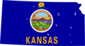 Kansas Flag Map - Mapsof.Net Map