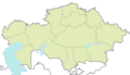 Kazakhstan Blank Map - Mapsof.Net Map