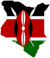 Kenya Flag Map - Mapsof.Net Map