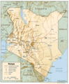 Kenya Physical Map 1 - Mapsof.Net Map