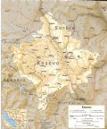 Kosovo Physical Map - Mapsof.Net Map