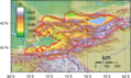 Kyrgyzstan Topography - Mapsof.Net Map