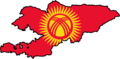 Kyrgyzstan Flag Map - Mapsof.Net Map