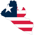 Liberia Flag Map - Mapsof.Net Map