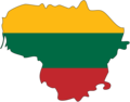 Lithuania Flag Map - Mapsof.Net Map