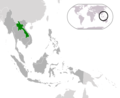 Location Laos Asean - Mapsof.net