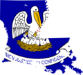 Louisiana Flag Map - Mapsof.Net Map