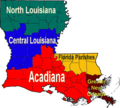 Louisiana Regions Map - Mapsof.Net Map