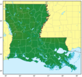 Louisiana Relief Map - Mapsof.Net Map