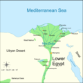 Lower Egypt 460 Bc - Mapsof.Net Map