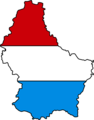 Luxembourg Flag Map - Mapsof.Net Map