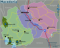 Macedonia Regions Map - Mapsof.net