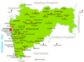 Maharashtra Map 1 - Mapsof.Net Map