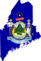 Maine Flag Map - Mapsof.Net Map