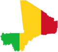 Mali Flag Map - Mapsof.Net Map