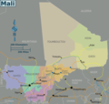 Mali Regions Map - Mapsof.Net Map