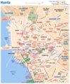 Manila City Map - Mapsof.Net Map