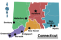 Map of Connecticut Regions - Mapsof.Net Map