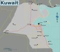 Map of Kuwait - Mapsof.Net Map