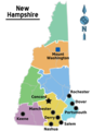 Map of New Hampshire Regions - Mapsof.Net Map