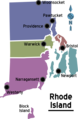 Map of Rhode Island Regions - Mapsof.net