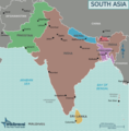 Map of South Asia - Mapsof.Net Map