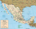 Mexico Political Map - Mapsof.Net Map