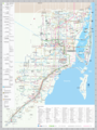 Miami Transport Map (include Metrobus) - Mapsof.Net Map