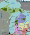 Michigan Regions Map - Mapsof.Net Map