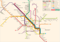 Milan Metro Map - Mapsof.Net Map