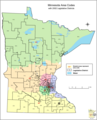 Minnesota Area Code Map - Mapsof.Net Map
