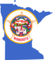 Minnesota Flag Map - Mapsof.Net Map