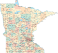 Minnesota Highway Map With Cities - Mapsof.Net Map