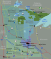 Minnesota Regions Map - Mapsof.Net Map