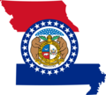 Missouri Flag Map - Mapsof.Net Map