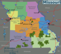 Missouri Regions Map - Mapsof.Net Map