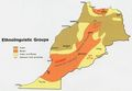 Morocco Etnolinguistico Map 1973 - Mapsof.Net Map