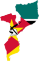 Mozambique Flag Map - Mapsof.net