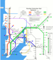 Mumbai Suburban Rail Map - Mapsof.Net Map