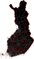 Muncipalities And Provinces of Finland Black - Mapsof.Net Map