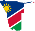 Namibia Flag Map - Mapsof.Net Map